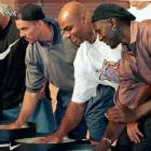 Jason Kidd, Charles Barkley and Michael Jordan left their mark at the Nike Hoop Heroes games in Yokohama, Japan.