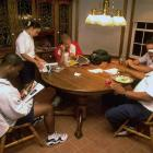 Jason Kidd may look relaxed here with this family, but Dallas' turmoil ensued and he was traded to Phoenix in three months later.