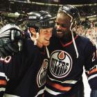 """The Oilers pulled off a huge upset when, after a dazzling save by goalie Curtis Joseph, Doug Weight found winger Todd Marchant with a pass. Stars defenseman Grant Ledyard fell and Marchant went on on a breakaway, beating Andy Moog with a high shot at 12:26 of the third extra session. """"It was one of those games where you knew something weird was going to happen. Toddy scoring would likely be it,"""" Oilers coach Ron Low told the Edmonton Journal. """"He'd only had about 500 breakaways that year and scored on one percent of them."""""""