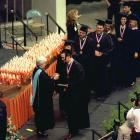 Peyton Manning receives his diploma at Tennessee's commencement ceremony. Manning was elected to the Phi Beta Kappa academic honor society while at Tennessee.