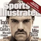 Mike Piazza appears on the cover of SI following his trade from the Dodgers to the Marlins in May 1998.