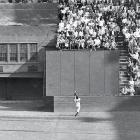 World Series, Sept. 29, 1954 | A 12-time Gold Glove winner, Mays made one of his best defensive plays in Game 1 of the 1954 World Series when, running at full speed with his back to home plate, he hauled in a deep fly ball to centerfield to help the Giants hang on to a 5-2 win. Mays had been the NL MVP that year, and he led the Giants to a sweep of Cleveland for the title.