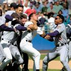 """One brawl wasn't enough for the Tigers and White Sox, who fought in the seventh and ninth innings of a 14-6 Chicago victory. Final tally: five hit by pitches and 11 ejections. """"Bottom line is, we won the game and we killed them,"""" Chicago pitcher Jim Parque said. """"I hope they have enough guys so we can beat them again."""""""