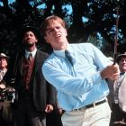 Will Smith watches Matt Damon during a scene from ''The Legend of Bagger Vance,'' the story of a down-and-out golfer who recovers his game with the help of a mystical caddy (played by Smith).