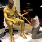 Ahead of Team USA's gold-medal run at the Sydney Games, Kidd was painted in gold. Awkard.