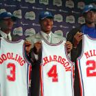Most of the GMs in '00 got their picks right; this was just a bad group of players. Here was the top half of the first round: Kenyon Martin, Stromile Swift, Darius Miles, Marcus Fizer, Mike Miller, DerMarr Johnson, Chris Mihm, Jamal Crawford, Joel Przybilla, Keyon Dooling, Jerome Moiso, Etan Thomas, Courtney Alexander, Mateen Cleaves and Jason Collier. Particularly unfortunate for the Clippers, who wound up with three of the top 18 picks.