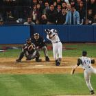 """Major league baseball had never been played in November before Jeter stepped to the plate against Diamondbacks closer Byung-Hyun Kim with two outs in the bottom of the 10th inning of Game 4 of the World Series. As the clock struck midnight, flipping the calendar to November, Jeter fell in, then battled out of, an 0-2 hole, and hit the ninth pitch of the at-bat just over the wall in rightfield for a game-winning solo home run, the first walk-off homer of his career. The blast earned Jeter the nickname """"Mr. November."""""""