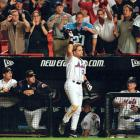 """After a pregame tribute to the victims who died in the World Trade Center attacks, Mike Piazza hit an eighth-inning, game-winning homer against Atlanta to lift the Mets to victory in a game that marked baseball's return to the city for the first time since the terrorist attacks. Said Piazza afterward: """"I'm just so happy I gave the people something to cheer. There was a lot of emotion. It was just a surreal sort of energy out there. I'm just so proud to be a part of it tonight."""""""