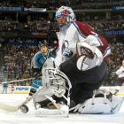 """Patrick Roy was masterful in stopping 27 shots while the Avs nursed Peter Forsberg's second-period goal, especially during San Jose's two-man advantage in the final 55 seconds. Roy extended his NHL record with his 22nd career playoff shutout. """"I said before Game 6, if there is one player I'm not worried about for Game 7, it's Patrick,"""" said Colorado coach Bob Hartley. """"He's our energy, he's the reason that every game we feel that we have a chance to win. He came up large tonight."""""""
