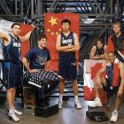 Under Cuban (second from left), the Mavs capitalized on the NBA's growth in international players including Eduardo Najera (Mexico), Wang Zhizhi (China), Steve Nash (Canada), Tariq Abdul-Wahad (France) and Dirk Nowitzki (Germany).