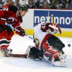 """After the Devils blew a three-games-to-one lead on the Presidents' Trophy-winners, winger Jeff Friesen had to redeem himself for a third-period turnover that allowed the Senators to tie the game at 2-2 in front of a roaring crowd in Ottawa. With 2:14 to play in regulation, Friesen scored the biggest goal of his career, beating goalie Patrick Lalime. """"I couldn't even react, I couldn't even describe what that was like,"""" Friesen said. """"It just happened to work out that I got a chance to get that big goal."""""""
