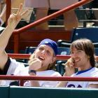 Nash and then-Mavericks teammate Dirk Nowitzki take in an April 2003 Rangers game. The two made quite the tandem that year, with Nash averaging 17.7 points and 7.3 assists per game and Nowitzki racking up 25.1 points per game. Dallas advanced to the Western Conference Finals before falling to the San Antonio Spurs.