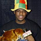 """LeBron goes all """"Cat in the Hat"""" while speaking to kids at a Cavaliers Read to Achieve event in 2003."""