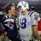 The Patriots kicked off the 2004 season with another win over the Colts. This time it came down to the wire, but a New England defense that had struggled all night came up tough in crunch time to preserve the win. Tom Brady completed 26-of-38 passes for 335 yards, three touchdowns and one interception. (Brady 5, Manning 0)