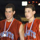 Blake Griffin (right) and older brother Taylor at ages 14 and 17.