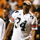Auburn alum Charles Barkley watches the Tigers football team take on Tennessee at Neyland Stadium.