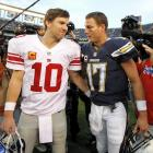 Eli Manning to the Giants for Philip Rivers and first-, third- and fifth-round picks. The draft-day deal saw Manning (taken first overall) and Rivers (No. 4) traded for one another shortly after being selected by the Chargers and Giants, respectively. It's difficult to pinpoint a bigger win-win trade in NFL history. The Giants landed the franchise quarterback who led them to two Super Bowl titles, including that memorable upset of the undefeated Patriots four years later, and the Chargers eventually reaped a windfall that included three future Pro Bowl players -- Rivers, linebacker Shawne Merriman and kicker Nate Kaeding -- and a veteran starting left offensive tackle in Roman Oben.