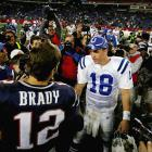 Peyton Manning entered the game 0-7 in his career at Foxboro, but he completed 28-of-37 passes for 321 yards, three touchdowns and just one interception to finally beat the Patriots on the road. (Brady 6, Manning 1)