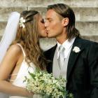Francesco Totti and Hilary Blasi