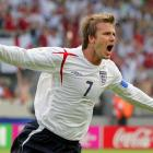 Beckham became the first English player to score in three World Cups. England's superstar team captain took a free kick after Frank Lampard was fouled in the Round of 16 vs. Ecuador in 2006. His shot curled over the wall and banked in off the post to give the Three Lions the 1-0 win.