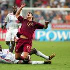France's Patrick Vieira fouls Portugal's Cristiano Ronaldo during their match in the 2006 World Cup.
