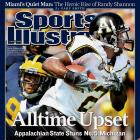 Ranked No. 5 entering the season, Michigan had national-championship aspirations. But Appalachian State had different plans. Led by dynamic QB Armanti Edwards and speedy WR Dexter Jackson, the Mountaineers became the first Division I-AA team to beat a ranked Division I-A team, defeating the Wolverines 34-32.