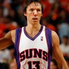 Known for his gritty play, Steve Nash bumped heads with Tony Parker, who had possession of the ball, late in the fourth quarter of Game 1 of the Western Conference semifinals. Nash sustained a deep cut on his nose that bled profusely for the remainder of the game.