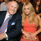 Bradshaw and singer/actress Jessica Simpson enjoy the CMT Giants honoring Hank Williams Jr. at the Gibson Amphitheatre.