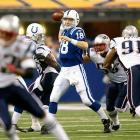 Trailing 31-14 in the fourth quarter, the Colts mounted a spirited comeback, highlighted by a defensive stop on 4th-and-2 with 1:57 remaining. That gave Indy the ball with a short field at the 29, and Peyton Manning needed only four plays to score. Matt Stover hit the game-winning extra point. (Brady 7, Manning 4)