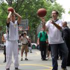 Blake Griffin partakes in a round of hoops with Subway spokesman, Jared? Sure, why not?