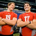 Matthew Stafford and Mark Sanchez