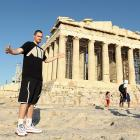 While helping Team USA to a gold medal at the 2010 FIBA World Championship, Love spent his off time touring Europe. Check him out in front of the Acropolis in Athens.