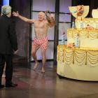 """Bradshaw surprises Jay Leno on his 60th birthday during taping for """"The Tonight Show with Jay Leno."""""""