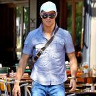 Cristiano Ronaldo leaves Da Silvano Restaurant in New York City after having lunch.