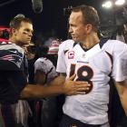 """In the first matchup following Peyton Manning's move from Indianapolis to Denver, Tom Brady's Patriots rolled to a 31-21 victory over the Broncos. Brady finished 23-of-31, with 223 yards passing and two touchdowns (one passing, one rushing). """"Nobody I'd rather have than Tom Brady,"""" Patriots coach Bill Belichick said after the game. """"But Manning's a great player."""" Manning, who sat out the entire 2011 season with a neck injury, went 31-of-44 for 345 yards and three touchdowns. (Brady 9, Manning 4)"""
