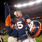 Tim Tebow became a hero in Denver when he led the Broncos to a 29-23 overtime playoff victory over the Steelers. Tebow threw for 316 yards, scored two touchdowns and ran for another. He won the game on a 80-yard touchdown pass to Demaryius Thomas on the first play of overtime.