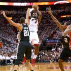 LeBron James scored 37 points, grabbed 12 rebounds and simply controlled everything down the stretch to win his second consecutive NBA title and second Finals MVP award. James made five three-pointers, defended Tony Parker when he had to, and did everything else that could be expected from the best player in the game in the Heat's 95-88 victory over the Spurs.