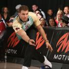 Blake Griffin bowls during the Chris Paul PBA League All-Stars Invitational Bowling Tournament at Lucky Strike Lanes in L.A.