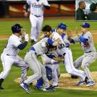 This exhibit of vigilante justice was on display in San Diego, when a fastball from the Dodgers' Zack Greinke veered inside and hit the Padres' Carlos Quentin on the left arm. A moment later, Quentin charged the mound, and soon both benches emptied in a brawl. Greinke suffered a broken collarbone and was out over a month. After the game, Matt Kemp confronted Quentin in a tunnel under the stadium (inset) before Padres pitcher Clayton Richard separated them.