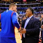 Blake Griffin Jesse Jackson before a Clippers-Warriors playoff game in L.A.