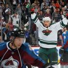 The Wild never had a lead in the game, until it was over. Every time Colorado scored each of their four goals, Minnesota answered back to tie it up. But at 5:02 in overtime, Nino Niederreiter scored his second goal of the game after teammate Ilya Bryzgalov made a big save filling in for injured netminder Darcy Kuemper, leading the Wild to a 5-4 win over the Avalanche in Game 7. Minnesota's only other series win in the first round of the playoffs came 11 years earlier with a Game 7 win in overtime against the Avalanche, whose goalie was Patrick Roy, Colorado's current head coach.