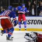 Derek Stepan scored 11:24 in overtime, lifting the New York Rangers past the Washington Capitals 2-1 and into the Eastern Conference finals. Stepan's wrist shot from the left wing after he won a faceoff — a rarity for the Rangers — capped a comeback from a 3-1 deficit in the series. The Rangers are the only team to manage that in successive years, doing the same thing to Pittsburgh in the second round in 2014. The Rangers extended an NHL record with their 14th straight one-goal game, dating to last year's Stanley Cup finals loss to Los Angeles.