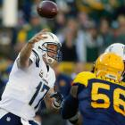 43 of 65 for 503 yards and two TDs in 27-20 loss to the Green Bay Packers at Lambeau Field.