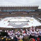 There was a surprising warm, communal spirit to the day as nearly 70,000 Bruins and Canadiens fans gathered at Gillette Stadium, tailgating and partying from the early morning until the 1:30 p.m puck drop. The weather was reasonably mild (about 40 degrees) and the ice condition was excellent and fast.