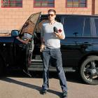 San Francisco Giants pitcher Barry Zito arriving at spring training at Scottsdale Stadium in 2010.