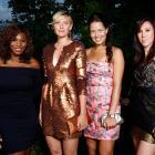 WTA tour players (left to right) Serena Williams, Maria Sharapova, Ana Ivanovic, Jelena Jankovic pose at the Sony Ericsson pre-Wimbledon party at the Kensington Roof Gardens.