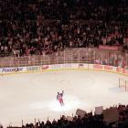 New York, April 18, 1999 | Wayne Gretzky waves to the crowd at Madison Square Garden after playing in the final game in of his career.