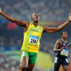 Beijing Olympics, Aug. 20, 2008 | Jamaican sprinter Usain Bolt reacts after breaking the world record in the men's 200-meter final with his time of 19.30 seconds. He had broken the 100-meter world record earlier in the games, too.