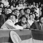 Opening Day, April 10, 1961 | President John Kennedy and Vice President Lyndon Johnson take in Opening Day at Griffith Stadium, Washington, D.C., home to the expansion Senators.