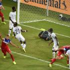 John Brooks reacts after scoring the game winner on a header in the 86th minute of a 2-1 U.S. victory over Ghana, the team that had knocked the Americans out of the previous two World Cups.